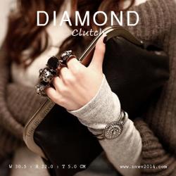 กระเป๋าคลัชท์ผู้หญิง รุ่น DIAMOND สีดำ