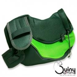 กระเป๋าใส่สุนัข เป้สะพายข้าง สีเขียว