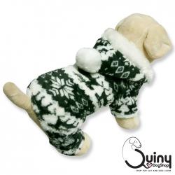 ชุดสุนัข กันหนาว ลายกวาง สีเทา
