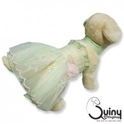ชุดสุนัข เจ้าหญิง สีเขียว