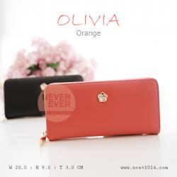 กระเป๋าสตางค์ผู้หญิง รุ่น OLIVIA สีส้ม Orange