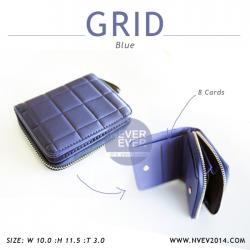 กระเป๋าสตางค์ผู้หญิง GRID สีน้ำเงิน