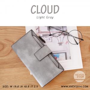 กระเป๋าสตางค์ผู้หญิง รุ่น CLOUD สีเทา ใบยาว