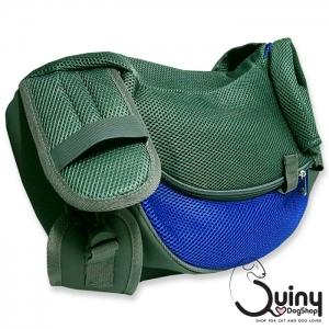 กระเป๋าใส่สุนัข เป้สะพายข้าง สีน้ำเงิน