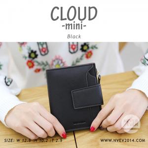 กระเป๋าสตางค์ผู้หญิง CLOUD-MINI สีดำ
