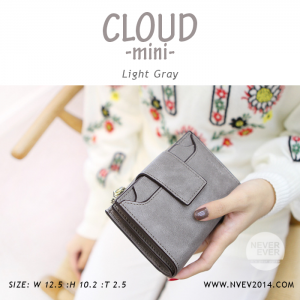 กระเป๋าสตางค์ผู้หญิง CLOUD-MINI สีเทา