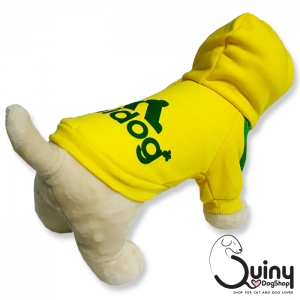 เสื้อสุนัข Adidog สีเหลือง