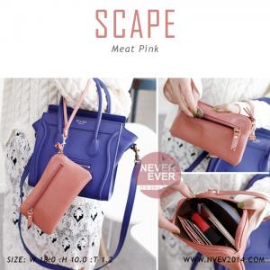 กระเป๋าสตางค์ผู้หญิง ทรงถุง สีชมพู รุ่น SCAPE