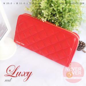 กระเป๋าสตางค์ผู้หญิง รุ่น LUXY สีแดง ซิปรอบ RED