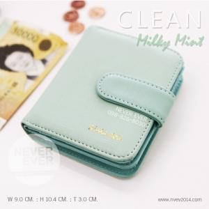 กระเป๋าสตางค์ผู้หญิง CLEAN สีเขียว Mint