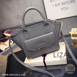 กระเป๋าสะพายข้าง รุ่น LIZA สีเทา