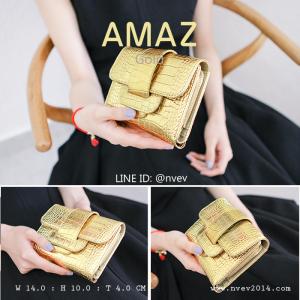 กระเป๋าสตางค์ผู้หญิง ขนาดกลาง รุ่น AMAZ สีทอง
