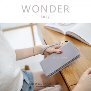 กระเป๋าสตางค์ผู้หญิง รุ่น WONDER สีเทา