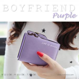กระเป๋าสตางค์ผู้หญิง BOYFRIEND-Purple สีม่วง
