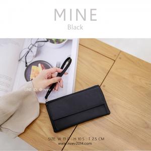 กระเป๋าสตางค์ผู้หญิง ทรงถุง รุ่น MINE สีดำ