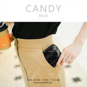 กระเป๋าสตางค์ผู้หญิง ใบสั้น รุ่น CANDY สีดำ