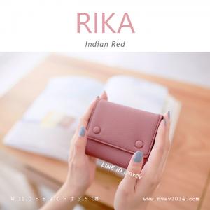 กระเป๋าสตางค์ผู้หญิง รุ่น RIKA สี Indian Red แดงอินเดียน
