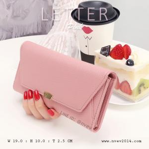 กระเป๋าสตางค์ผู้หญิง รุ่น LETTER สีชมพู