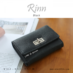 กระเป๋าสตางค์ผู้หญิง ใบสั้น รุ่น RINN สีดำ