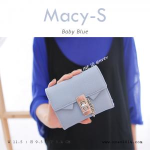กระเป๋าสตางค์ผู้หญิง ใบสั้น รุ่น MACY-S สีฟ้าพาสเทล