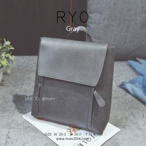 กระเป๋าเป้ผู้หญิง รุ่น RYO สีเทา