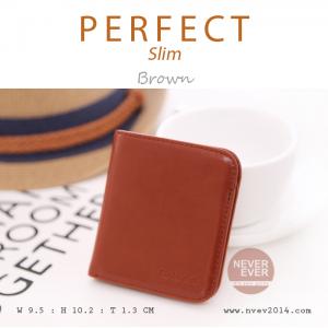 กระเป๋าสตางค์ผู้หญิง PERFECR Slim สีน้ำตาล