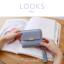 กระเป๋าสตางค์ผู้หญิง ใบสั้น รุ่น LOOKS สีฟ้า thumbnail 3