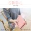 กระเป๋าสตางค์ผู้หญิง รุ่น GRID-L สีเทาอ่อน ใบยาว สองซิป thumbnail 11