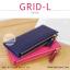 กระเป๋าสตางค์ผู้หญิง รุ่น GRID-L สีเทาอ่อน ใบยาว สองซิป thumbnail 15
