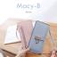กระเป๋าสตางค์ผู้หญิง ทรงถุง รุ่น MACY-B สีแดง อินเดีย thumbnail 15