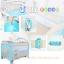 B10102 เตียงนอนเด็ก แบบน่ารัก สินค้าใหม่นำเข้าพร้อมชั้นวางที่เปลี่ยนผ้าอ้อม (A1สีฟ้า) thumbnail 2