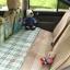 แผ่นปูปิดช่องวางเท้าเบาะหลังรถ กันเด็กตก ลายสก็อตโทนเขียว ขนาด134 x 65 cm thumbnail 1