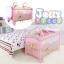 B10101 Playpen เตียงนอนเด็ก แบบน่ารัก สินค้าใหม่นำเข้าพร้อมชั้นวางที่เปลี่ยนผ้าอ้อม (A1สีชมพู) thumbnail 2