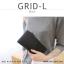 กระเป๋าสตางค์ผู้หญิง รุ่น GRID-L สีเทาอ่อน ใบยาว สองซิป thumbnail 25