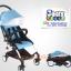 C10202 รถเข็นเด็ก Baby time แบบพกพาน้ำหนักเบา 5.8 kg โครงหลังคาดีไซน์ผ้าสีชมพู thumbnail 7