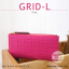 กระเป๋าสตางค์ผู้หญิง รุ่น GRID-L สีเทาอ่อน ใบยาว สองซิป thumbnail 12