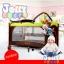 B10101 Playpen เตียงนอนเด็ก แบบน่ารัก สินค้าใหม่นำเข้าพร้อมชั้นวางที่เปลี่ยนผ้าอ้อม (A1สีชมพู) thumbnail 10