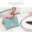 กระเป๋าสตางค์ผู้หญิง ใบสั้น รุ่น DIAMONDS-S สีฟ้า thumbnail 2