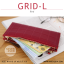 กระเป๋าสตางค์ผู้หญิง รุ่น GRID-L สีเทาอ่อน ใบยาว สองซิป thumbnail 6