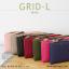 กระเป๋าสตางค์ผู้หญิง รุ่น GRID-L สีเทาอ่อน ใบยาว สองซิป thumbnail 18