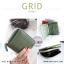 กระเป๋าสตางค์ผู้หญิง GRID สีเขียวเข้ม thumbnail 2