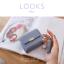 กระเป๋าสตางค์ผู้หญิง ใบสั้น รุ่น LOOKS สีฟ้า thumbnail 2