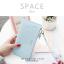 กระเป๋าสตางค์ผู้หญิง ทรงถุง รุ่น SPACE สีฟ้า thumbnail 25