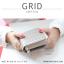 กระเป๋าสตางค์ผู้หญิง GRID สีเทาอ่อน thumbnail 3