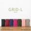 กระเป๋าสตางค์ผู้หญิง รุ่น GRID-L สีเทาอ่อน ใบยาว สองซิป thumbnail 16