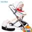 รถเข็นเด็ก Premium design Ovule basket เเบบ High landscape สีขาว ฺ/ สีน้ำตาล thumbnail 2