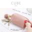 กระเป๋าสตางค์ ใส่เหรียญ รุ่น CUBE สีม่วง thumbnail 4