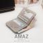 กระเป๋าสตางค์ผู้หญิง แบบบาง รุ่น AMAZ SlimII สีเทา thumbnail 4
