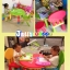 E10906 โต๊ะเขียนหนังสือเด็ก (โต๊ะกลม) สีชมพู thumbnail 2