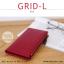 กระเป๋าสตางค์ผู้หญิง รุ่น GRID-L สีเทาอ่อน ใบยาว สองซิป thumbnail 4